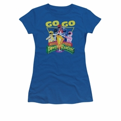 Power Rangers Shirt Juniors Go Go Royal Blue T-Shirt