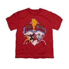 Power Rangers Shirt Kids Distressed Logo Red T-Shirt