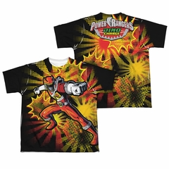 Power Rangers Shirt Red Ranger Sublimation Youth Shirt