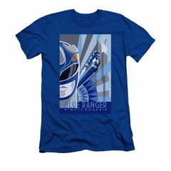 Power Rangers Shirt Slim Fit Blue Ranger Blue T-Shirt