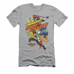 Power Rangers Shirt Slim Fit Swords Out Silver T-Shirt