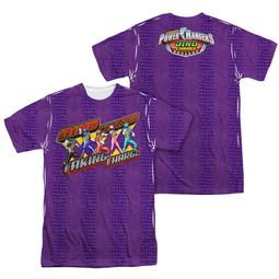 Power Rangers Shirt Taking Charge Sublimation Shirt Front/Back Print