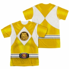 Power Rangers Shirt Yellow Ranger Costume Sublimation Shirt Front/Back Print