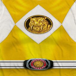 Power Rangers Yellow Ranger Costume Sublimation Shirts