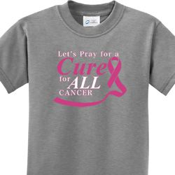 Pray for a Cure Kids Breast Cancer Awareness Shirts