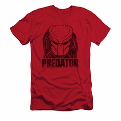 Predator Shirt Slim Fit Logo Red T-Shirt