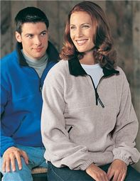 Tri Mountain Premium Quality Ladies Fleece Sweatshirt - Quarter Zip Viking
