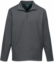 Premium Quality Mens Quarter-Zip Sweatshirt - No Hood