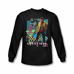Pretty In Pink Shirt A Duckman Long Sleeve Black Tee T-Shirt