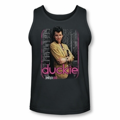 Pretty In Pink Tank Top Just Duckie Charcoal Tanktop
