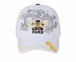 Printed Skull Patch Design Hat - Distressed Lackpard Cap - White