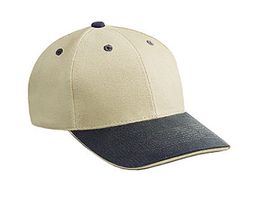 Professional Style Two Tone Hat � Cotton Sandwich Visor Adjustable Cap