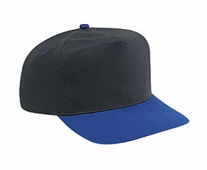Professional Style Two Tone Hat – High Crown Adjustable Golf Cap