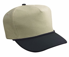 Professional Style Two Tone Hat – Wool Low Crown Adjustable Golf Cap