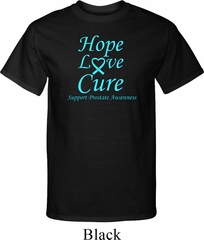 Prostate Cancer Hope Love Cure Tall Shirt