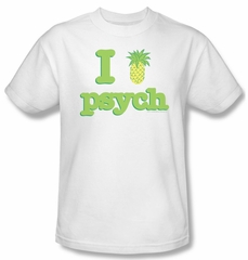 Psych Shirt I Like Psych Adult White Tee T-Shirt