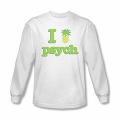 Psych Shirt I Like Psych Long Sleeve White Adult Tee T-Shirt