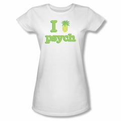 Psych Shirt Juniors I Like Psych White Tee T-Shirt