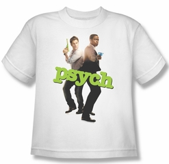 Psych Shirt Kids Hands Up White Youth Tee T-Shirt