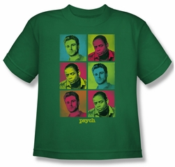 Psych Shirt Kids Squared Kelly Green Youth Tee T-Shirt