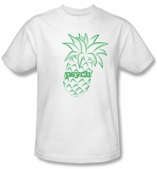 Psych Shirt Pineapple Adult White Tee T-Shirt