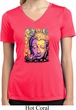 Psychedelic Buddha Ladies Moisture Wicking V-neck Shirt