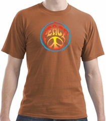 PSYCHEDELIC PEACE 100% Cotton Pigment Dyed Adult T-shirt