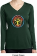 Psychedelic Peace Ladies Dry Wicking Long Sleeve Shirt