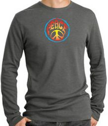 Psychedelic Peace Long Sleeve Thermal T-shirts