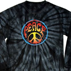 Psychedelic Peace Long Sleeve Tie Dye Shirt
