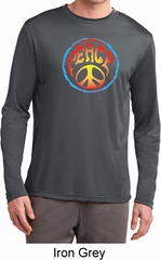 Psychedelic Peace Mens Dry Wicking Long Sleeve Shirt