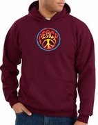 Psychedelic Peace Pullover Hooded Sweatshirts