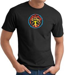 Psychedelic Peace Sign T-shirts