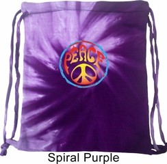 Psychedelic Peace Tie Dye Bag