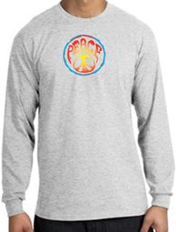 Psychedelic Peace World Peace Sign Symbol Adult Long Sleeve T-shirts