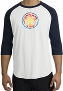 Psychedelic Peace World Peace Sign Symbol Adult Raglan T-shirts