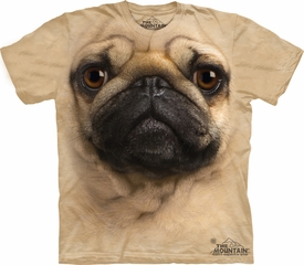 Pug Shirt Face Dog T-shirt Tie Dye Adult Tee