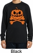 Pumpkin Skeleton Kids Dry Wicking Long Sleeve Shirt