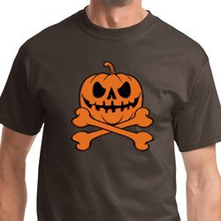 Pumpkin Skeleton Mens Halloween Shirts