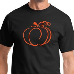 Pumpkin Sketch Mens Halloween Shirts