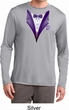Purple Tuxedo Mens Moisture Wicking Long Sleeve Shirt