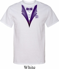Purple Tuxedo Mens Tall Shirt