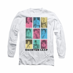 Quantum Leap Shirt Faces Long Sleeve White Tee T-Shirt