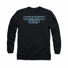 Quantum Leap Shirt Logo Long Sleeve Black Tee T-Shirt
