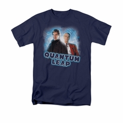 Quantum Leap Shirt Sam And Al Navy T-Shirt