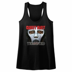 Quiet Riot Juniors Tank Top Terrified Album Black Racerback