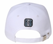 Racing Pattern 3D Lackpard Hat - Checkered Front Panel Cap - White