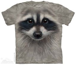 Racoon Face Shirt Tie Dye Adult T-Shirt Tee