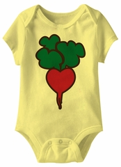 Radish Hearts Funny Baby Romper Yellow Infant Babies Creeper