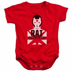 Rai Valiant Comics Baby Romper Protector Red Infant Babies Creeper